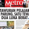COVER HARIAN METROPOLITAN EDISI 19 APRIL 2018