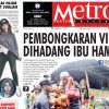 COVER HARIAN METROPOLITAN EDISI 25 APRIL 2018