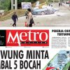 COVER HARIAN METROPOLITAN EDISI 21 APRIL 2018