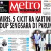 COVER HARIAN METROPOLITAN EDISI 23 APRIL 2018